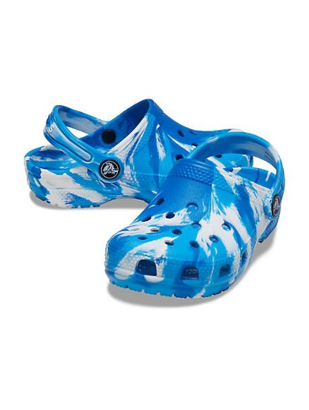 Crocs Kids Classic Marble Clogs Bright Colbalt/White