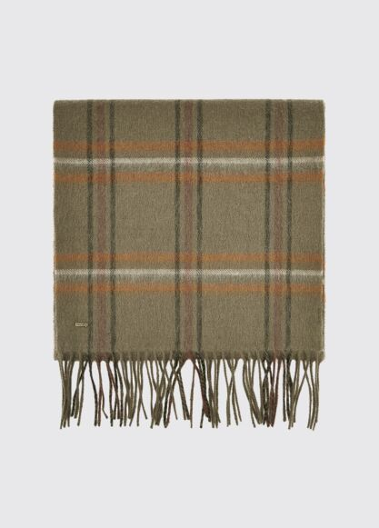 Dubarry Cullen Wool Scarf Dusky Green