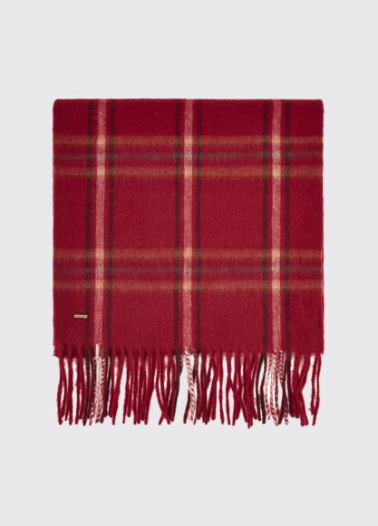 Dubarry Cullen Wool Scarf Ruby