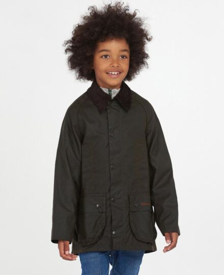 Barbour Boys Beaufort Wax Jacket Olive