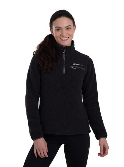 Berghaus Women's Darria Half Zip Fleece Black