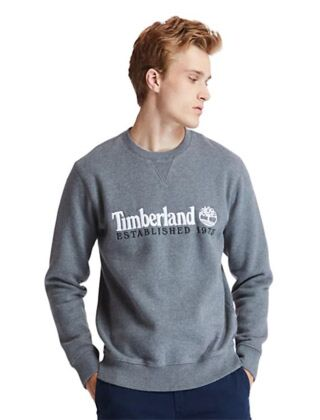 Timberland Est.1973 Crew Sweatshirt Dark Grey