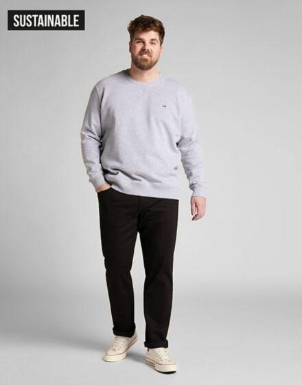 Lee Daren Low Stretch Button Jeans Clean Black
