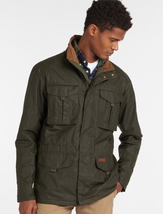 Barbour Dawson Waxed Cotton Jacket Archive Olive