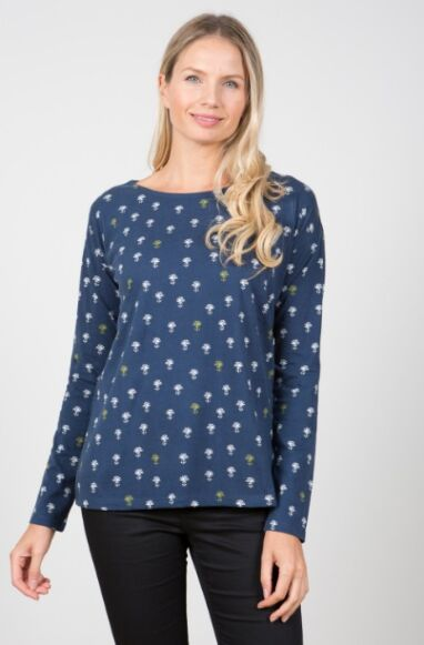 Lily and Me Day Off Tee Sundial Navy