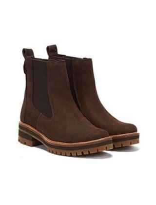 Timberland Women's Courmayeur Valley Chelsea Boot Dark Brown