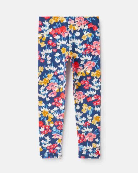 Joules DeeDee Printed Leggings Blue Floral