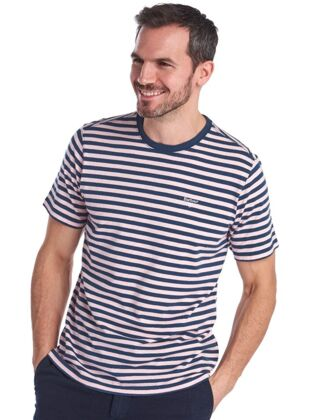 Barbour Delamere Stripe Tee Chalk pink