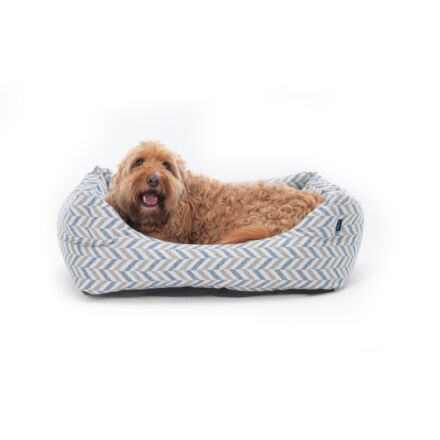 Project Blu Delta Dog Bed Grey/ Navy