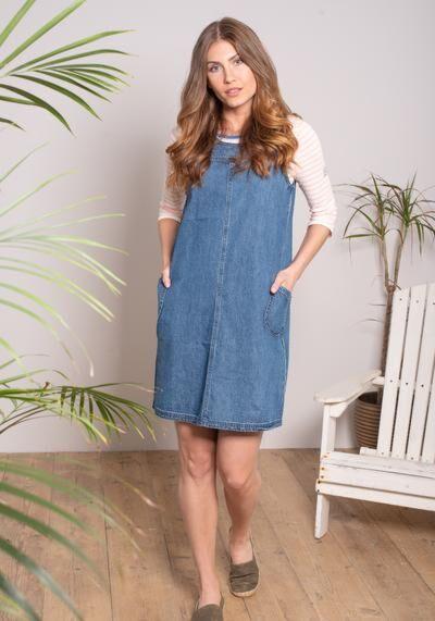 Brakeburn Denim Dress Blue