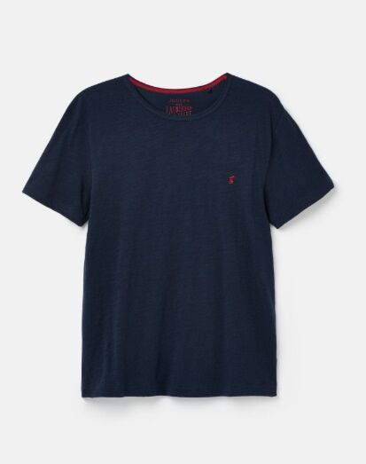 Joules Denton Solid Crew Neck T-Shirt French Navy