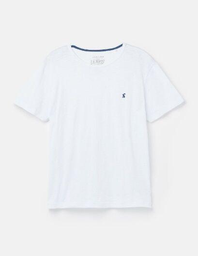 Joules Denton Solid Crew Neck T-Shirt White