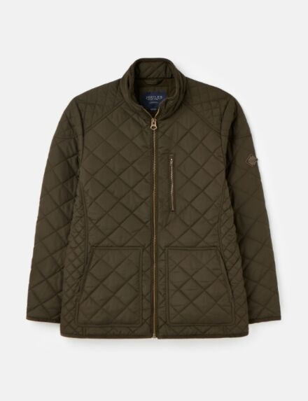 Joules Derwent Fleece Lined Quilted Jacket Dark Pine