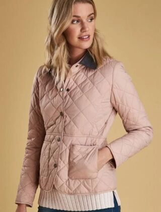 Barbour Deveron Quilted Jacket Pale Pink
