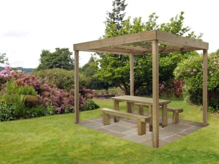 Forest Gardens Dining Pergola Without Panels