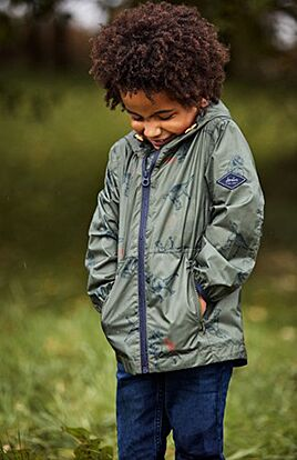 Joules Arlow Waterproof Printed Packaway Jacket