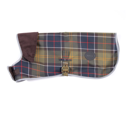 Barbour Waterproof Reflective Tartan Dog Coat Classic Tartan