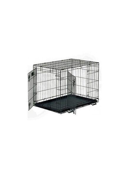 Fold Flat Pet Carrier 2 Door Dog Crate