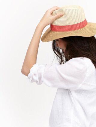 Joules Dora Fedora Hat Natural