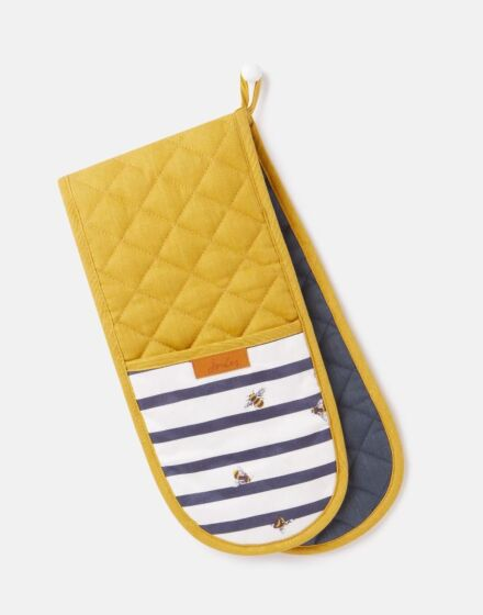 Joules Bee Stripe Double Oven Glove