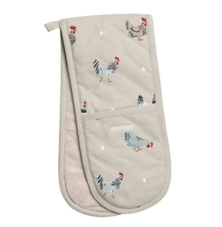 Sophie Allport Lay A Little Egg Double Oven Gloves