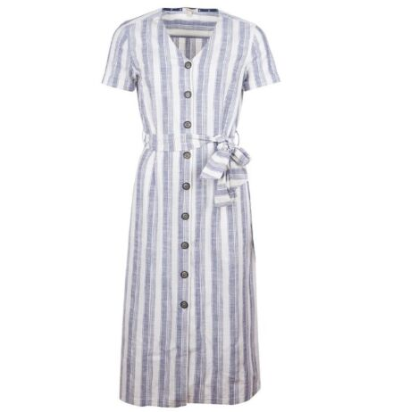 Barbour Dover Dress Navy/White Clearance