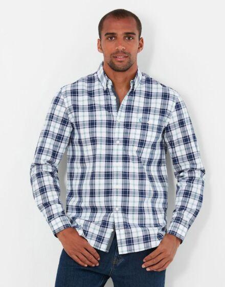 Joules Hewitt Classic Fit Shirt Green Blue Check