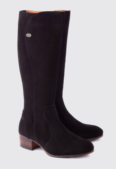 Dubarry Downpatrick Knee High Boot Black Suede