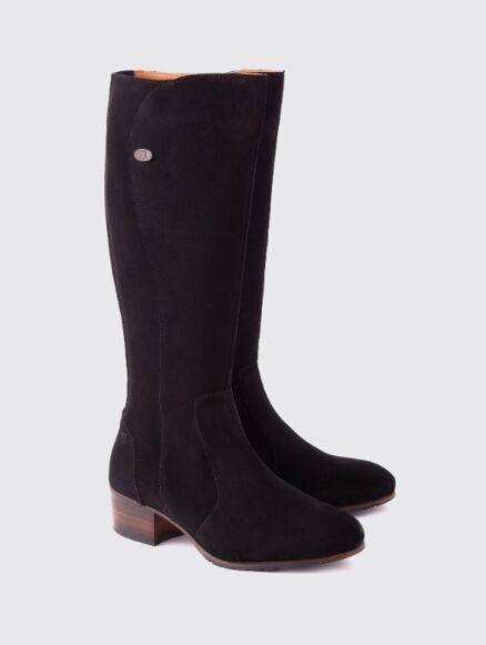 Dubarry Downpatrick Knee High Boot Black Suede