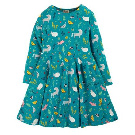 Frugi Sofia Skater Dress Farmyard