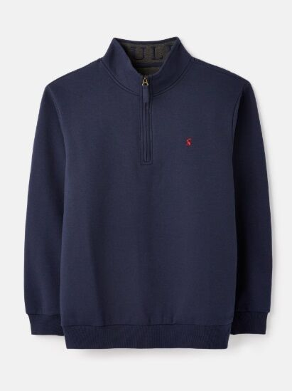 Joules Drayton Quarter Zip Sweatshirt French Navy