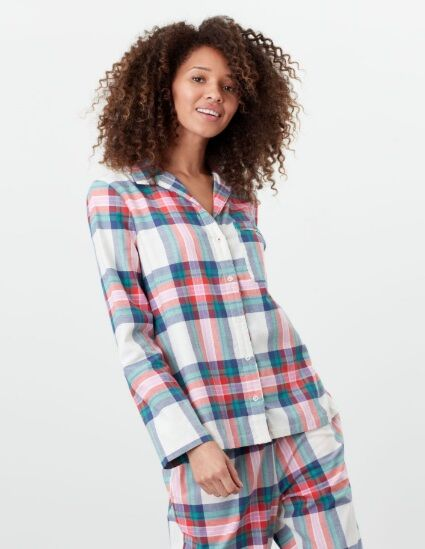 Joules Dream Woven Pyjama Shirt Multi Check