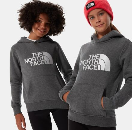 The North Face Youth Y Drew Peak Pullover Hoody Medium Grey