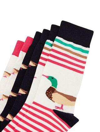 Joules Brill Bamboo Socks 3Pack Cream Ducks