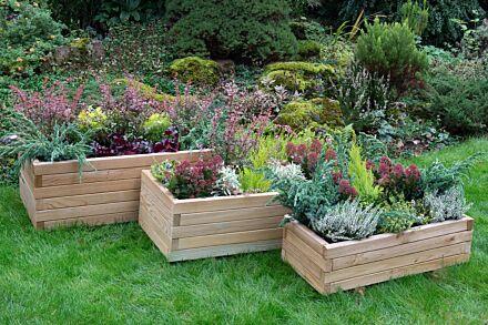 Forest Gardens Durham Rectangular Planter (set of three)