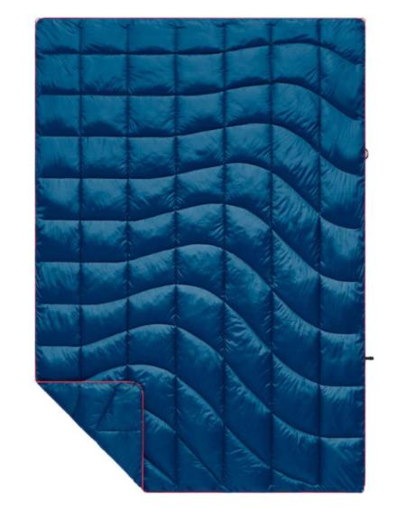 Rumpl Solid Nanoloft Travel Blanket Deepwater