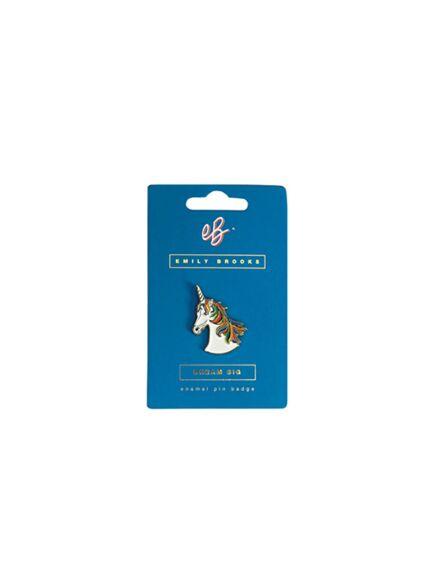 Emily Brooks Unicorn Pin Badge