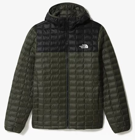 The North Face Men's Thermoball Eco Hooded Jacket Taupe Green/Black Matte