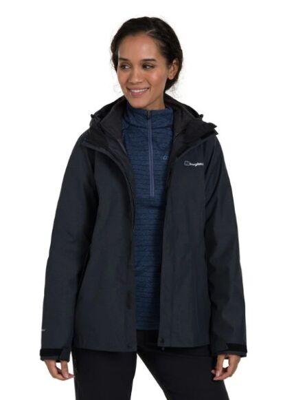 Berghaus Women's Elara 3in1 Waterproof Jacket Black/Grey