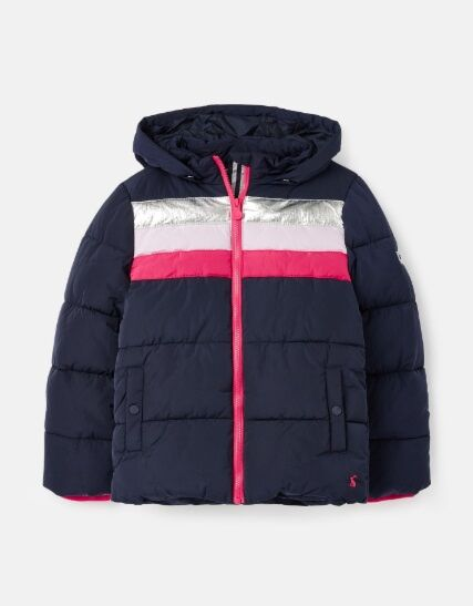Joules Eleanor Rainbow Jacket Navy Rainbow