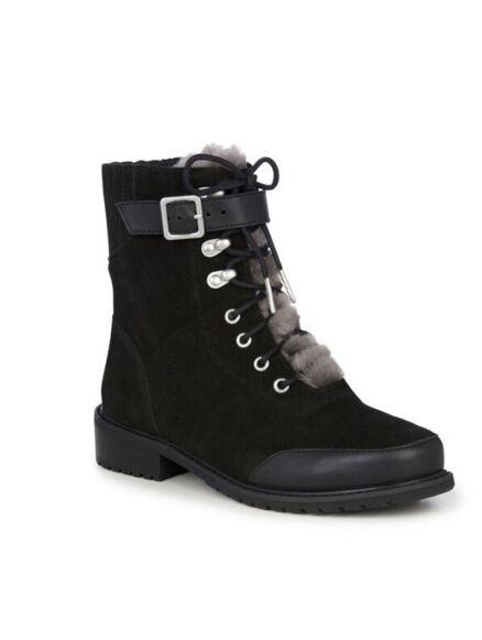 Emu Waldron Mix Mid Calf Suede Boot Black