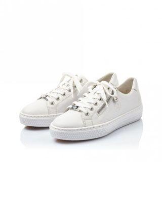 Rieker Enya Lace Up Shoes White