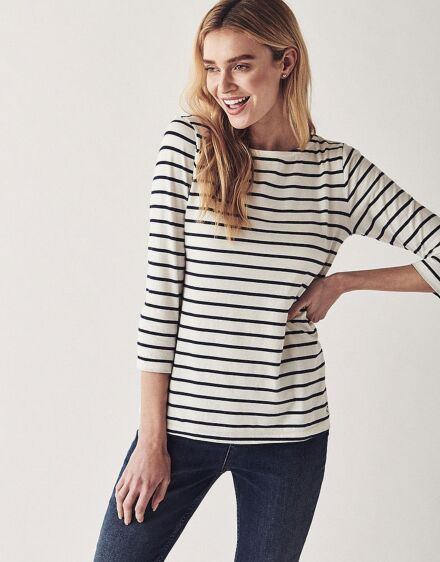 Crew Clothing Women's Essential Breton White/Navy