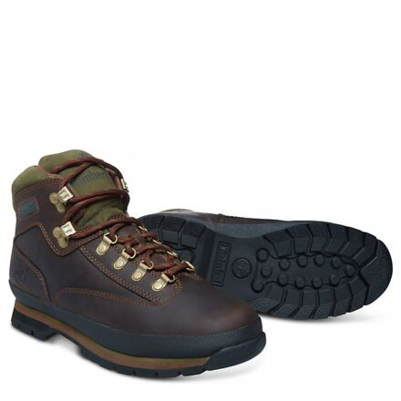 Timberland Men's Euro Hiker Mid Boot Medium Brown Full Grain