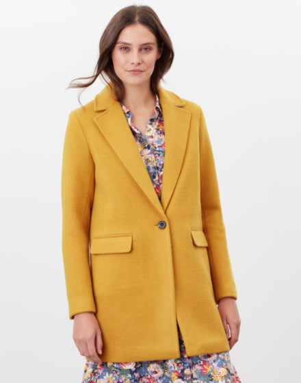 Joules Eve Wool Coat Caramel