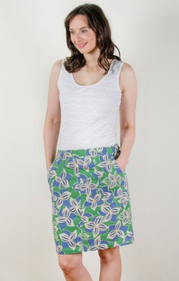 Lily and Me Everyday Linen Stargazer Skirt Cornflower