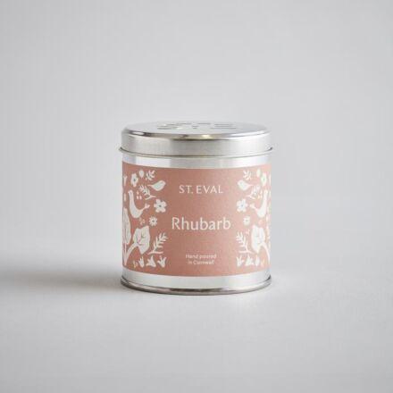 St Eval Rhubarb, Summer Folk Scented Tin Candle