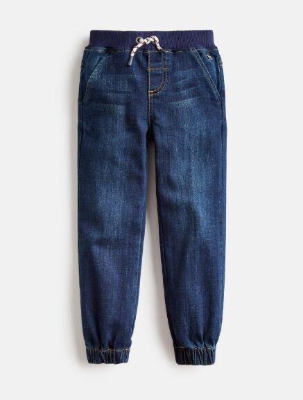 Joules Boys Ezra Ribbed Waist Pull On Jeans Denim
