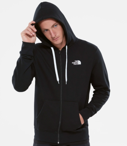 The North Face Mens Open Gate Full Zip Hoodie Black/White