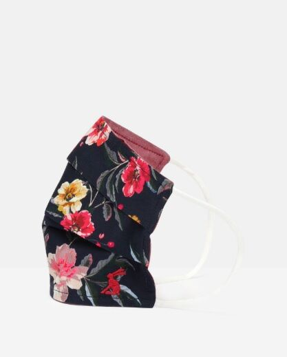 Joules Non Medical Reversible Face Covering Navy Flowers